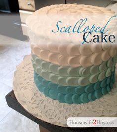 Housewife 2 Hostess : Scalloped Cake Decorating