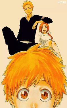 Bleach, Ichigo x Orihime = Kazui Ichigo E Orihime, Ichigo Manga, Manga Anime, Me Anime, Anime Love, Manga Art, Bleach Anime, Bleach Fanart, Shinigami
