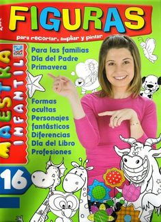 Moldes para Todo: - Figuras Maestra Infantil 16 - … Teacher Tools, Ideas Para, Free Printables, Kindergarten, Clip Art, Kids Rugs, Diy Crafts, Album, Activities