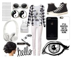 """""""Black and White"""" by jesuschristrocks214 ❤ liked on Polyvore featuring School Rag, Converse, Rails, Casetify, Beats by Dr. Dre and Bobbi Brown Cosmetics"""