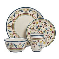 Plates Mug and Bowl by Bobby Flay  sc 1 st  Pinterest & Bobby Flayâu201e¢ Sevilla 4-pc. Place Setting Multicolor | Place ...