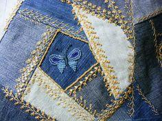 Petite Fashion Tips .Petite Fashion Tips Crazy Quilt Stitches, Crazy Quilt Blocks, Patch Quilt, Crazy Quilting, Embroidery Patterns, Quilt Patterns, Block Patterns, Bag Patterns, Crazy Patchwork