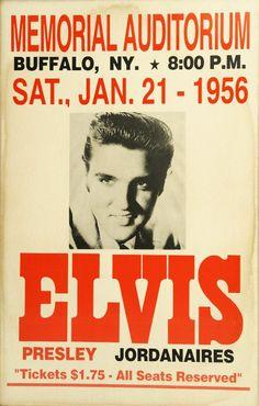 Elvis Presley Concert poster - tickets, $1.75