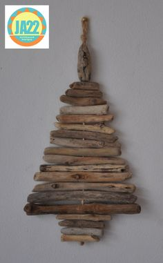 Driftwood  Christmas Tree  Wall Hanging Shabby Chic Home Decor Handmade X-Mas