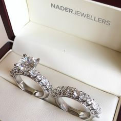 Diamond Engagement & Wedding Band by Nader