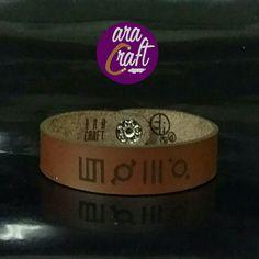 Today's leather bracelet production no. 2  For order: Instagram @aracraft #bracelet #leather #custombracelet