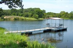 deck on pond