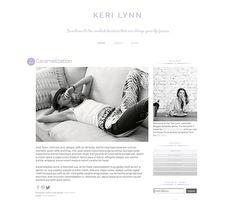Premade Blogger Template Keri Lynn by carrielovesdesign on Etsy, $35.00