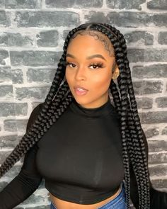 41 Top Shoulder Length Hairstyles for Black Women in 2019 - Style My Hairs Short Box Braids Hairstyles, Braids Hairstyles Pictures, Braided Hairstyles For Black Women, African Braids Hairstyles, Hair Pictures, Wig Hairstyles, Long Braids, Wedding Hairstyles, Black Girl Braids