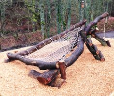Bowlees 'Star Gazing Hammock' Oak Structure with integrated Ropeswing