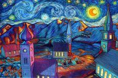 Reinterpreting the Classics -- Lochness Starry Night