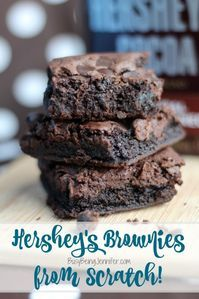 Delicious Hershey's Brownies from Scratch – BusyBeingJennifer… These Homemade Chewy Brownies are thick, chewy, fudgy and made completely from s. Homemade Brownies from Scratch are a decadent and chewy chocolate dessert. Fudge Brownies, Hershey Brownies, Kakao Brownies, Beste Brownies, Hersheys Cocoa Brownie Recipe, Brownies Recipe 9x13 Pan, Hershey Cocoa, Hershey Recipes, Cocoa Recipes