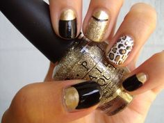 Unique nail art options...I like the leopard one!