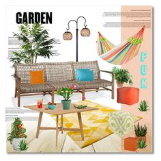 """""""fun garden"""" by limass ❤ liked on Polyvore featuring interior, interiors, interior design, home, home decor, interior decorating, Thos. Baker, Isolá, Potting Shed Creations and Cyan Design"""