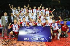 Polish National Volleyball Team! The Winners of Volleyball World League 2012, photo: FIVB #volleyball