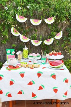 Watermelon Sweet table | CatchMyParty.com
