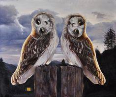 """Andrea Esposito, """"L'appuntamento"""", olio su tela, 50x60, 2013"""