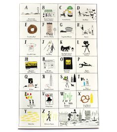 catbird::WHAT'S NEW: home & gifts::Mr. Boddington's NYC Loves ABC Print