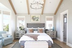 Cool 50+ Soft Bedroom Designs with Pastel and White https://decoratoo.com/2017/06/04/50-soft-bedroom-designs-pastel-white/ The furniture in a youthful woman's bedroom needs to be contemporary. The huge, beautiful furniture together with pastoral motif made a French-country feel.