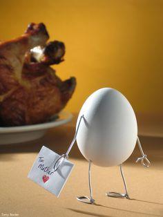Aww, poor egg.