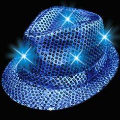 Blue LED Sequin Fedora