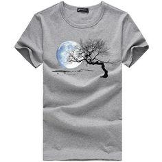 Buy Online Free Shipping - Woven Fabric Print Pattern Casual T-Shirt For Men. #Mentshirt #ShopOnline #MehdiGinger