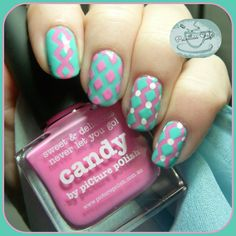 piCture pOlish: Blogfest 2014 | Pointless Cafe Diamond Nail Art using Nail Vinyls