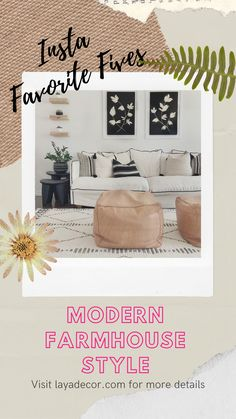 Insta Favorite Fives - Find this week's five popular Instagram accounts to follow which highlight Modern Farmhouse decor. #instagramaccountstofollow