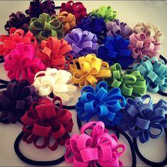 felt loop hair ties