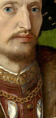 Jan Gossaert c. 1530 Portrait of a Gentleman, detail