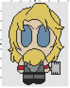 Thor Weenie (2) Cross Stitch Pattern - Professional Pattern Designer and Artist…