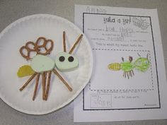 make and eat a bug, don't forget ladybug with rice cakes