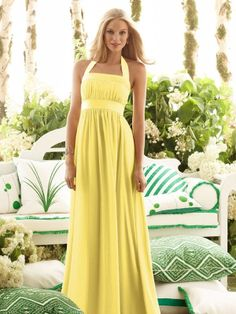 Yellow Bridesmaid Dress for #wedding