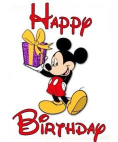 Happy Birthday Wishes From Mickey Mouse Card Happy Birthday Mickey Mouse, Happy 35th Birthday, Birthday Cartoon, Mickey Mouse Parties, Happy Birthday Images, Birthday Pictures, Happy Birthday Wishes, Minnie Mouse, Happy Birthdays