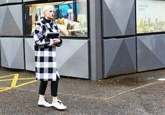 Street Style: London Fashion Week Fall 2014 - Bold coats