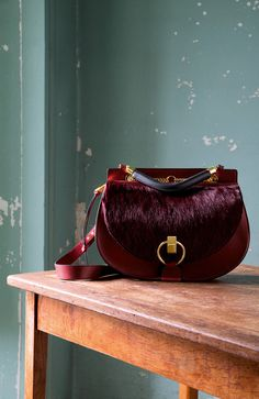 The Chloé Fall 2015 accessories collection – Goldie double carry bag in long haircalf (pony) and small grain calfskin
