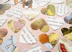 500 Beatrix Potter Peter Rabbit Heart Book Confetti - Baby Shower, Birthday Party, Christening - Novel Table Decor