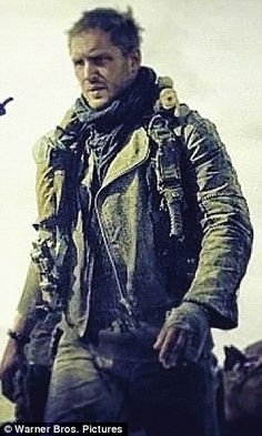 FIRST LOOK: Tom Hardy sports battered leather jacket as he takes on role of Mad Max in movie remake | Mail Online