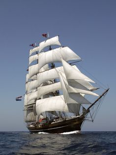 """""""Stad Amsterdam"""", a modern steel-hulled reconstruction of a Dutch clipper"""