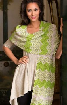 Chevron Shawl Free Crochet Pattern from Red Heart Yarns