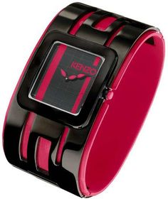 Bangle watch mix material : black IP plating stainless steel and inner plastic ring