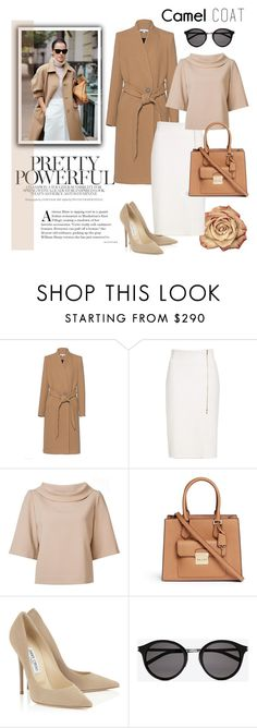 """""""#camelcoat"""" by hellodollface ❤ liked on Polyvore featuring IRO, MaxMara, Trina Turk, Michael Kors, Yves Saint Laurent and camelcoat"""