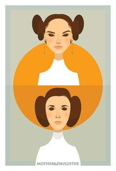 Mother / Daughter (Padme / Leia) Copyright by Stan Chow