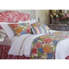 I love this look! - In Bloom Quilt & Sham in Multi ( Pattern, Quilt) | Fine Furniture from Company C