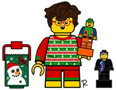 Opening Presents Boy Lego Custom Minifigures, Lego Truck, Lego Boards, Miniature Houses, Candyland, Legos, Blind, Boxes, Presents