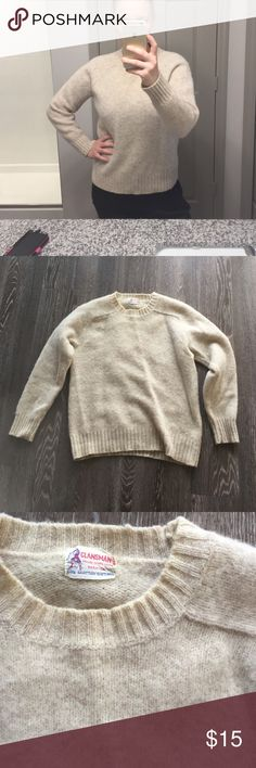 Vintage Shetland wool 100% Scottish shetland wool sweater, vintage. In good used condition. Tag says xl but has been shrunk to a small clansman Sweaters