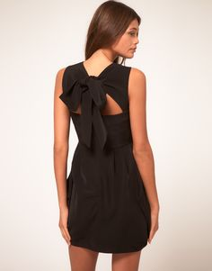 little black dress with bow