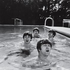 The Beatles in the pool by John Loengard