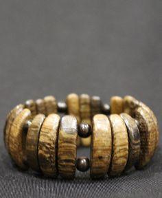 Темно-коричневый браслет из дерева дуба вбр556
