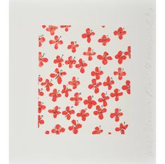 DONALD SULTAN-RED VERONICA (WALL FLOWERS)-POPARTGALERIEFLUEGELRONCAKNUREMBERG